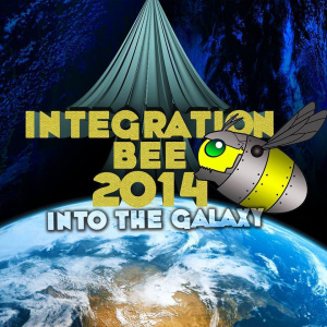 The official logo of the Integration Bee 2014.